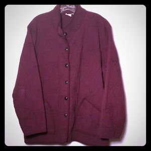 Maroon quilted fall jacket
